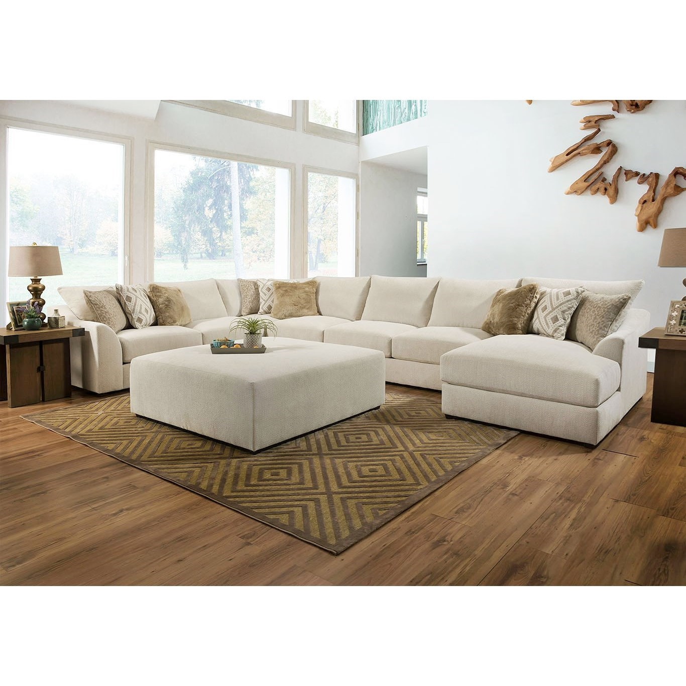 Vivian Sectional Sofa by Lane at Powell's Furniture and Mattress