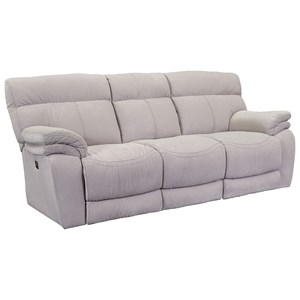 Powerized Double Reclining Sofa with Large Pillow Arms