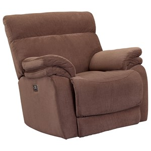 Glider Recliner with Double Pillow Arms