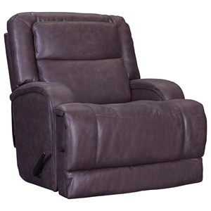 Glider Rocker Recliner with Fully Padded Footrest