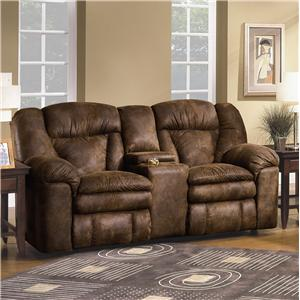 Lane Talon Double Reclining Console Sofa