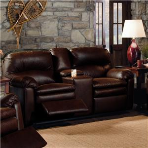 Lane Touchdown Double Reclining Console Sofa