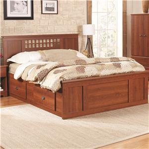 Lang Bayfield King Panel Captains Bed