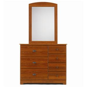 Lang Bayfield 7 Drawer Dresser & Panel Mirror