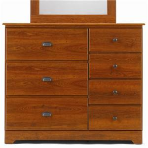Lang Bayfield 7 Drawer Dresser with Roller Glides