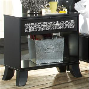 Lang Black Earth 1 Drawer Night Stand