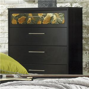Lang Black Earth 5 Drawer Chest