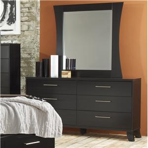 Lang Black Earth Dresser & Mirror Set