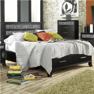 Lang Black Earth Full Black Headboard & Footboard Bed