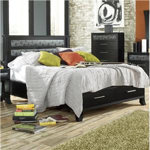 Lang Black Earth King Black Headboard & Footboard Bed