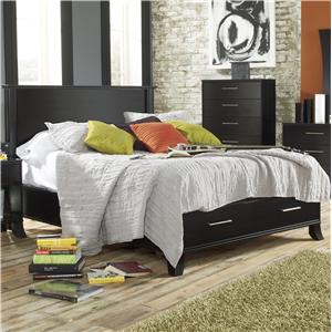 Lang Black Earth Queen Black Headboard & Footboard Bed