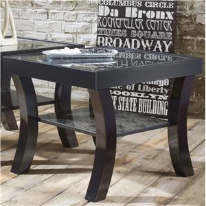 Lang Black Earth Black End Table