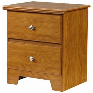 Lang Columbia 2 Drawer Nightstand with Roller Glides