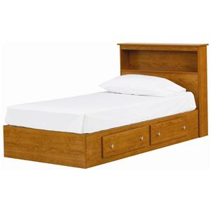 Lang Columbia Twin 2 Drawer Mates Bed