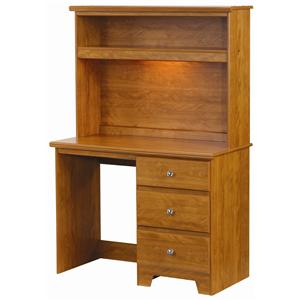 Lang Columbia 3 Drawer Desk with Hutch Combination