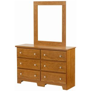 Lang Columbia 6 Drawer Dresser with Mirror Combination