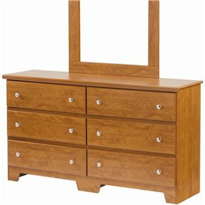 Lang Columbia 6 Drawer Dresser with Roller Glides