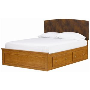 Lang Columbia King Fabric Captain's Bed