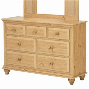 Lang Madison 7 Drawer Dresser with Roller Glides
