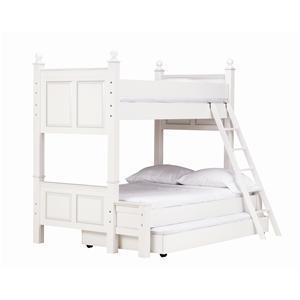 Lang Madison Twin Over Full Bunk Bed with Trundle Bed