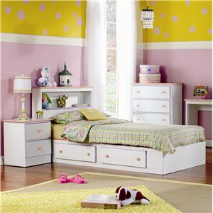 Twin 2 Drawer Storage Bed with Roller Glides