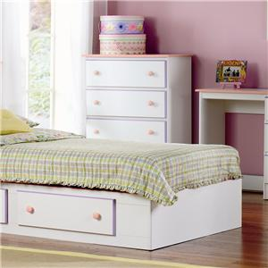 Lang Miami 4 Drawer Chest with Roller Glides