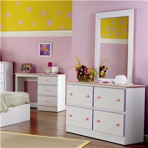 Lang Miami 4 Drawer Dresser & Mirror Combo