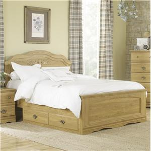 Lang Oak Creek King Panel Bed