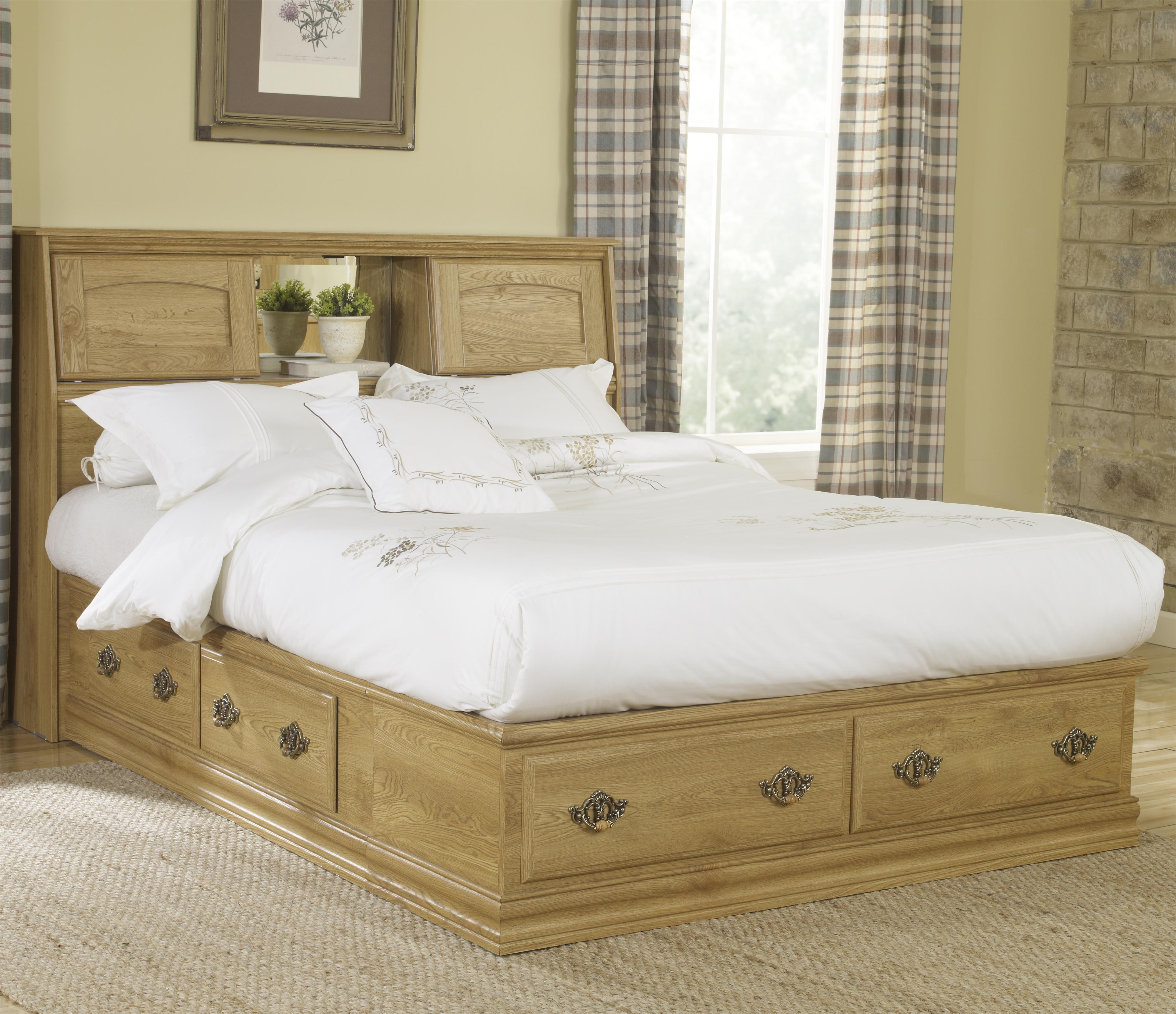 Oak Creek Queen Bookcase Bed by Lang at Lapeer Furniture & Mattress Center