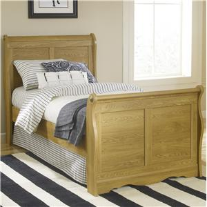 Lang Oak Creek Full Junior Sleigh Bed