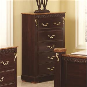 Lang Racine 5 Drawer Chest with Roller Glides