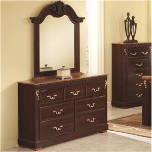 Lang Racine Dresser & Mirror Set