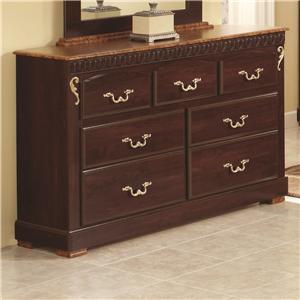 Lang Racine 7 Drawer Dresser with Roller Glides