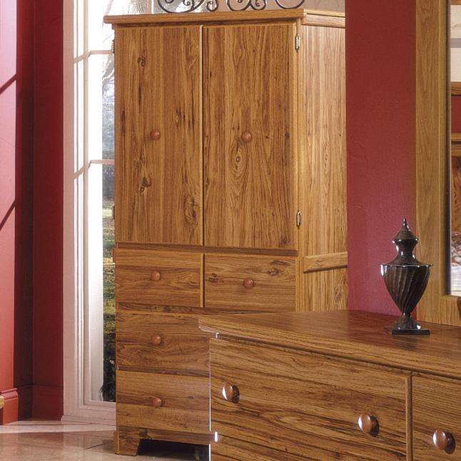 Shaker 4 Drawer 2 Door Armoire by Lang at Lapeer Furniture & Mattress Center
