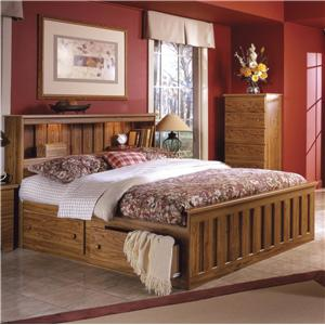 Lang Shaker Queen Bookcase Bed