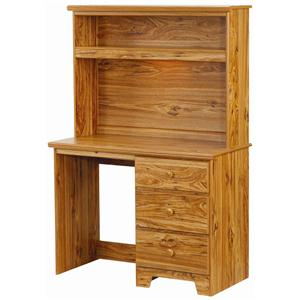 Lang Shaker 3 Drawer Desk with Lit Hutch