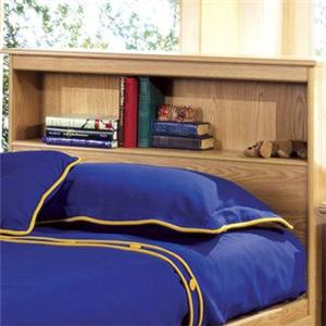 Lang Shaker Twin Bookcase Headboard with Lights