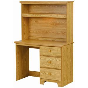 Lang Shaker 3 Drawer Desk with Lit Hutch
