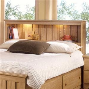 Lang Shaker Full Bookcase Headboard with Lights