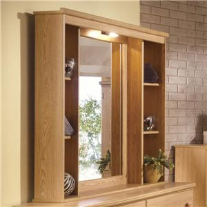 Lang Shaker Hutch Mirror with Lights