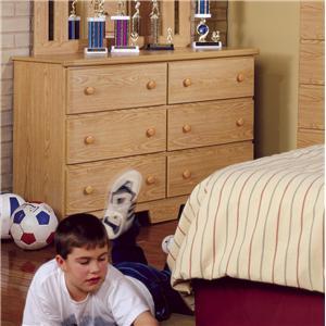 Lang Shaker 49 Inch 6 Drawer Dresser