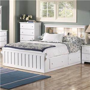 Lang Shaker Twin Bookcase Bed