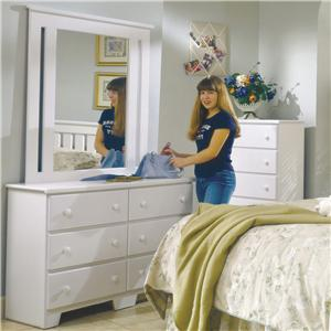 Lang Shaker 49 Inch 6 Drawer Dresser and Mirror Set