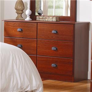 Lang Special 6 Drawer Dresser with Roller Glides