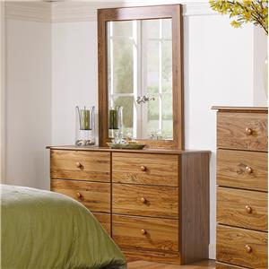 Lang Special 6 Drawer Dresser with Mirror Combination