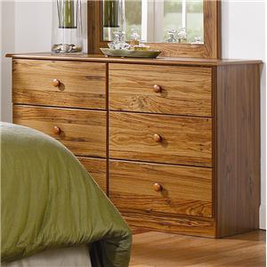 Lang Special 6 Drawer Dresser with Roller Glides