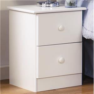 Lang Special 2 Drawer Night Stand with Roller Glides