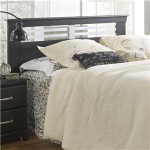 Twin Panel Headboard with Metal Accent