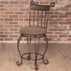 Counter Height Stool w/ Upholstered Seat