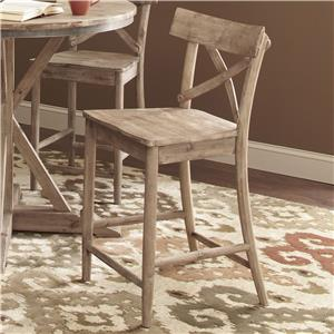 "Rustic Casual 24"" Counter Stool"
